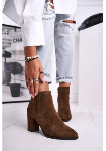 Hnedé dámske čižmy