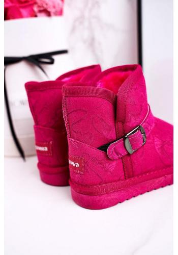Dievčenské ružové oteplené snehule