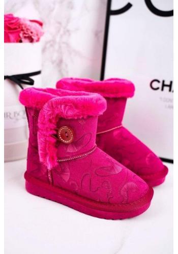 Ružové snehule pre dievčatá s kožušinou