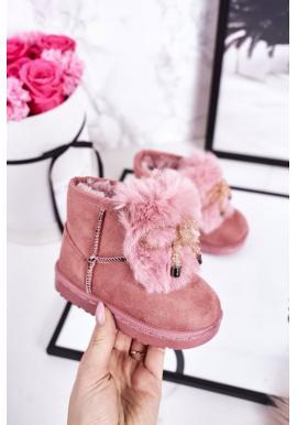 Štýlové ružové oteplené snehule pre dievčatá