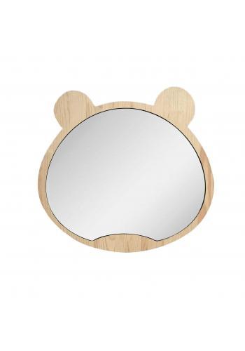 Veľké drevené zrkadlo v podobe medveďa pre deti