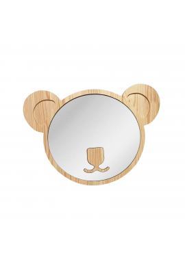 Veľké drevené zrkadlo v podobe koaly pre deti