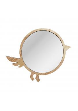 Veľké drevené zrkadlo v podobe vtáka do detskej izby
