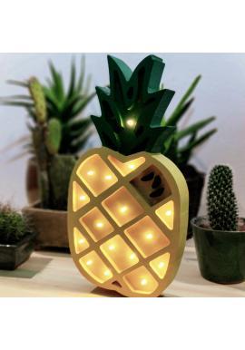 Detská drevená lampa v podobe ananásu