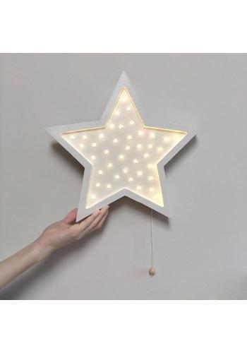 Detské drevené lampy v podobe hviezd