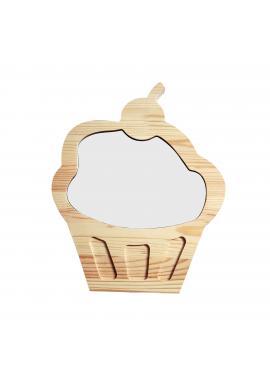 Detská magnetická suchostierateľná tabuľa v podobe cupcaku