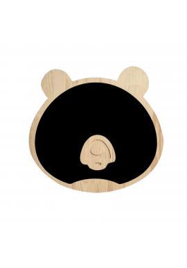 Magnetická kriedová tabuľa v podobe medveďa