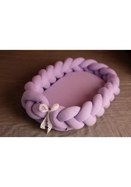 Uzlíkové detské hniezdo 2v1 vo fialovej farbe