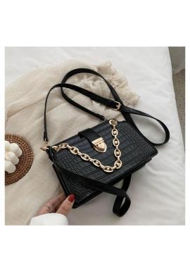 Čierna elegantná kabelka z ekokože pre dámy