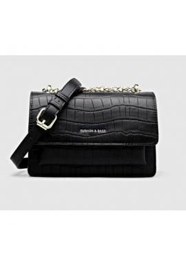 Dámske elegantné kabelky z ekokože v čiernej farbe