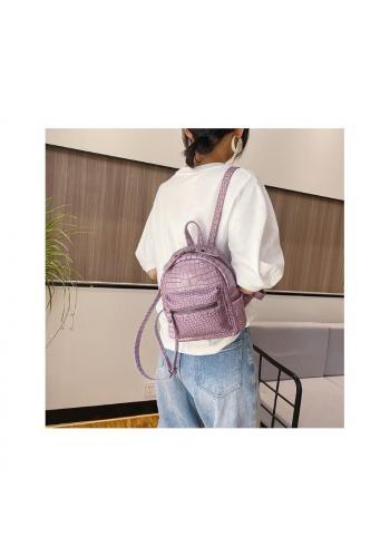 Elegantný dámsky ruksak ružovej farby z ekokože