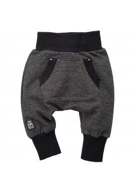 Detské čierno-sivé nohavice