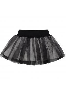 Dievčenská čierna tylová sukňa