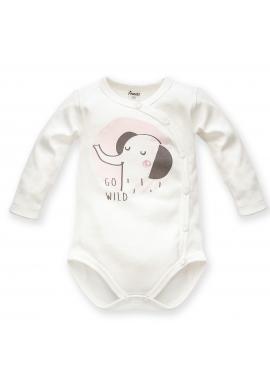 Detské body so sloníkom v smotanovej farbe