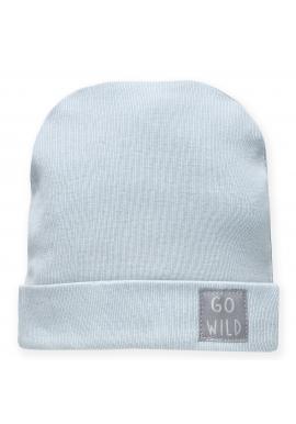 Štýlová detská čiapka modrej farby