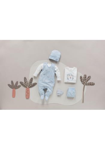 Detský bavlnený svetrík smotanovej farby