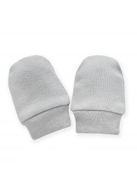 Bavlnené rukavičky pre bábätká v sivej farbe