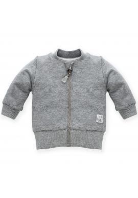 Štýlová detská mikina v sivej farbe