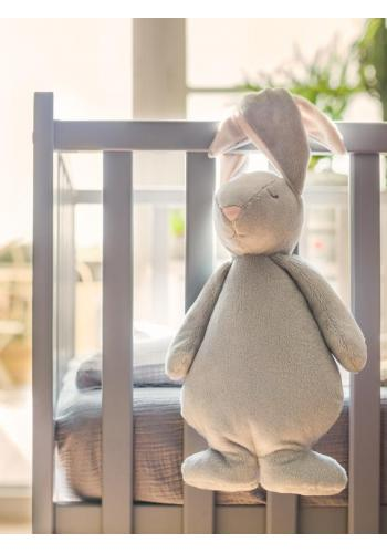 Svetlosivý svietiaci králik MOONIE so šumivým efektom