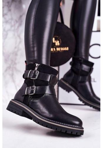 Dámske topánky v čiernej farbe