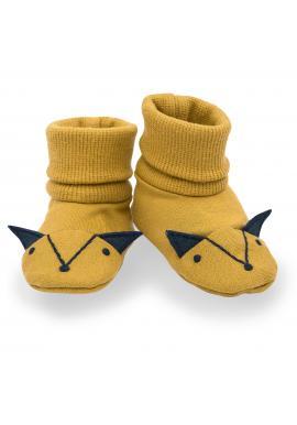Pohodlné papučky pre bábätká v žltej farbe