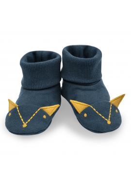Bavlnené papučky pre bábätká v tmavo modrej farbe