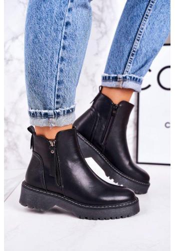 Čierne topánky pre dámy