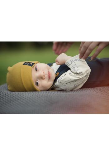 Bavlnená čiapka pre deti v žltej farbe