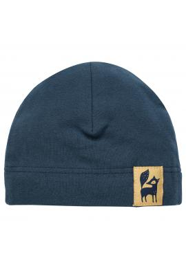 Bavlnená čiapka pre deti tmavo modrej farby