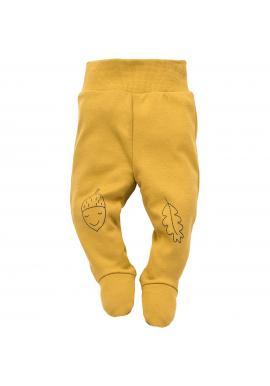 Detské polodupačky žltej farby s veselým motívom