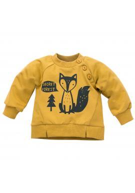 Štýlová detská mikina s motívom líšky v žltej farbe