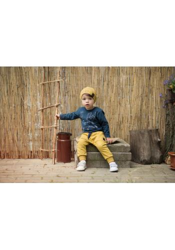 Chlapčenské tričko tmavo modrej farby s motívom líšky