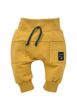 Štýlové detské tepláky v žltej farbe