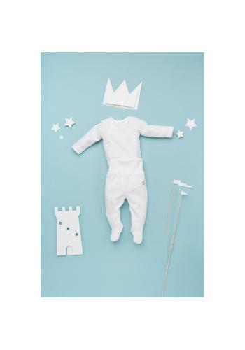 Pohodlné polodupačky pre bábätká v bielej farbe