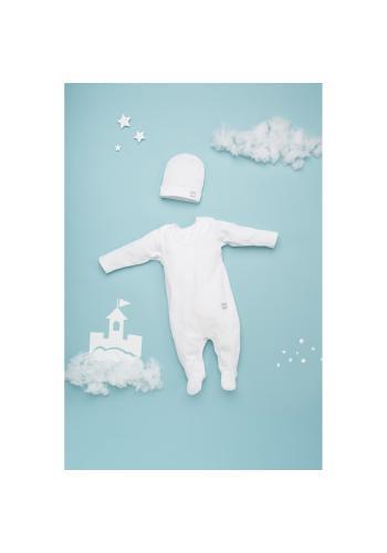 Bavlnené dupačky pre bábätká v bielej farbe