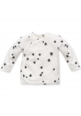 Bavlnený smotanový detský svetrík s hviezdičkami