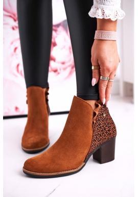 Dámske kožené topánky na opätku