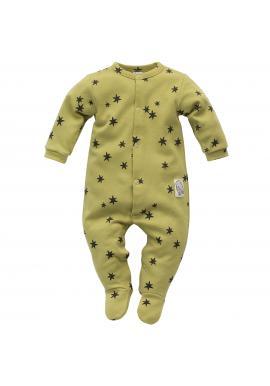 Pohodlný detský overal v zelenej farbe s hviezdičkami