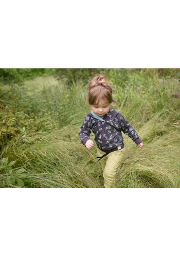 Štýlové detské tepláky zelenej farby
