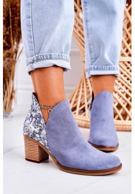 Štýlové kožené topánky na opätku