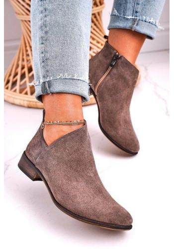 Štýlové semišové topánky pre dámy