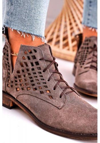 Módne semišové topánky pre dámy