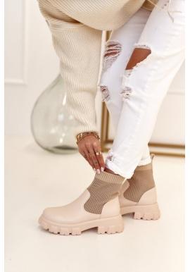 Béžové topánky pre dámy