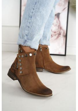 Dámske topánky v hnedej farbe
