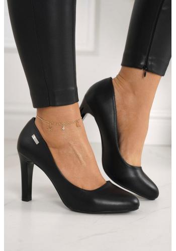 Klasické čierne dámske lodičky na vysokom podpätku