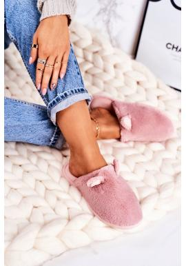 Dámske ružové papuče s ušami pre dámy