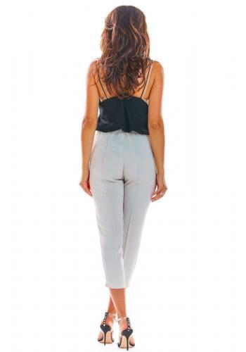 Dámske módne nohavice v béžovej farbe