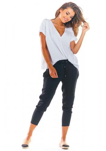 Čierne módne nohavice pre dámy