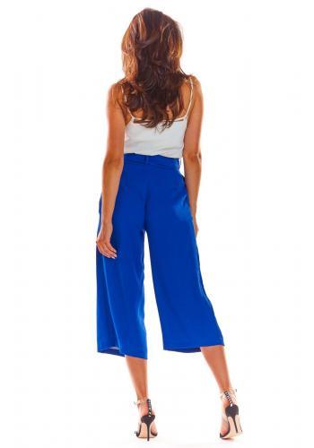 Dámske módne nohavice na leto v modrej farbe