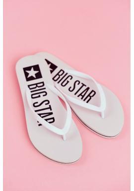 Trendy dámske žabky BigStar bielej farby